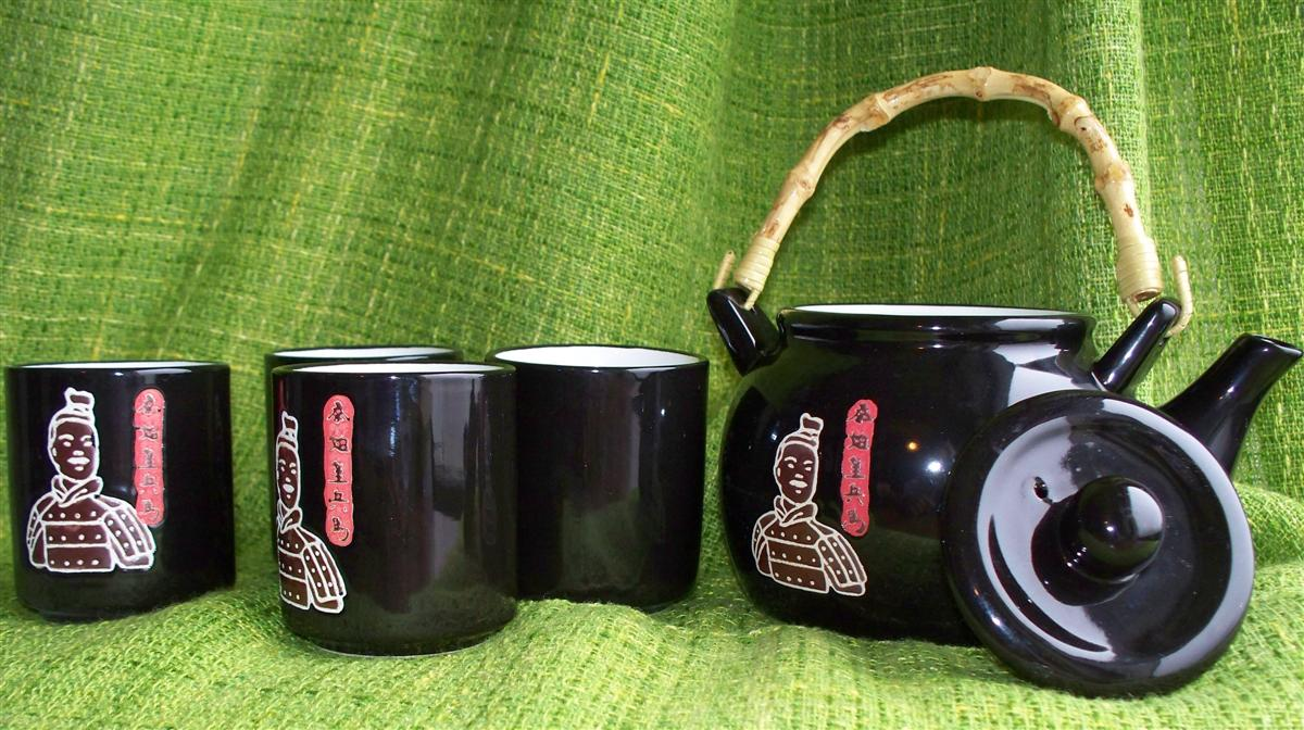 Čajová keramická souprava Pchi Pcha 600 ml