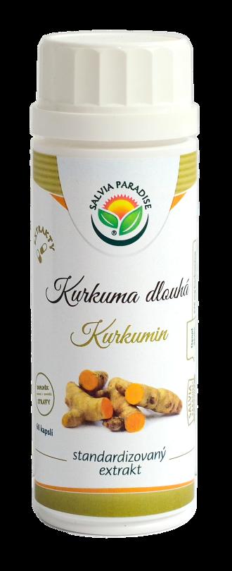 Kurkuma - kurkumin standardizovaný extrakt kapsle