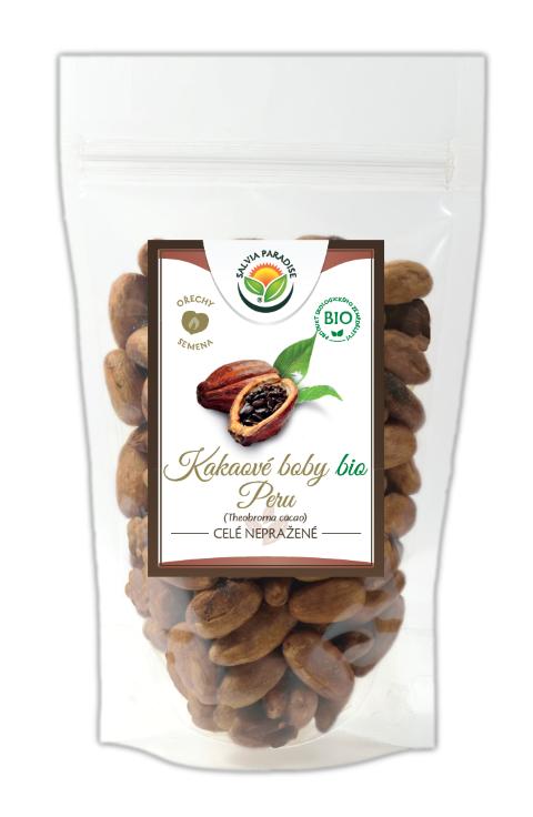 Kakaové boby nepražené celé neloupané Peru BIO