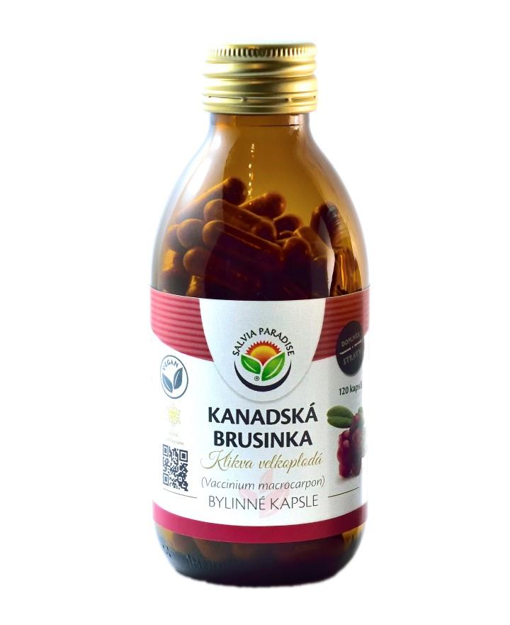 Kanadská brusinka sušená mrazem - lyofilizovaná kapsle