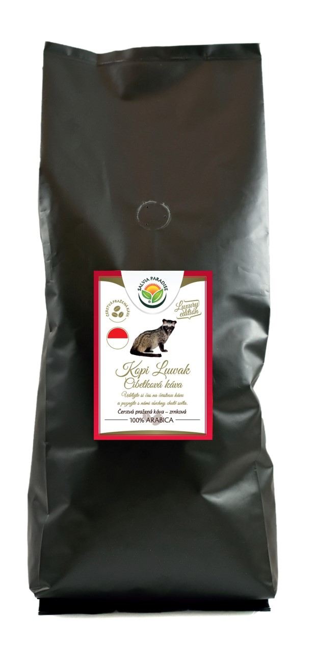 Káva - Kopi Luwak - cibetková káva 1000g